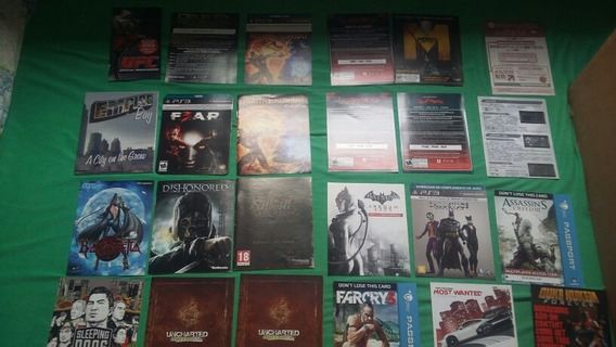 Lote Manual / Pass Code / Panfletos / Poster Playstation 3