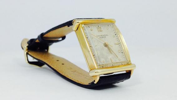 Reloj Universal Geneve, Caja De Oro Sólido De 18k (ref 643)