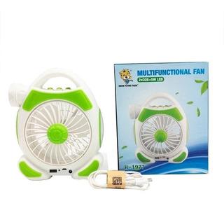 Ventilador Recargable Linterna Usb Multifuncional Ml1902