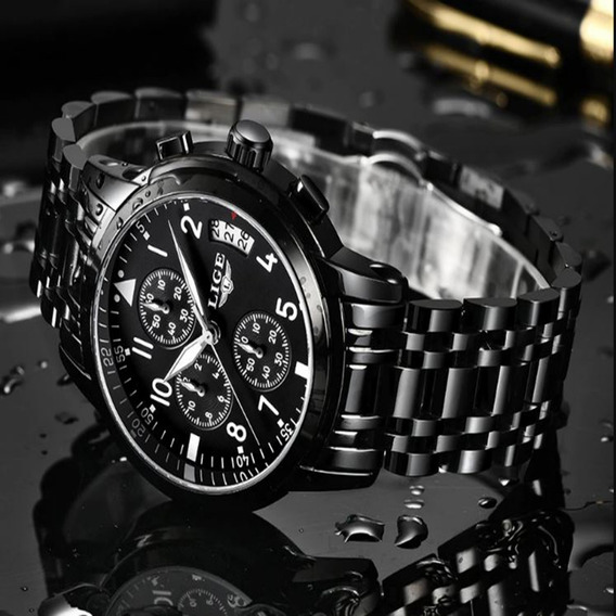 Relógio Casual Lige Original + Caixa, Certificado + Brinde