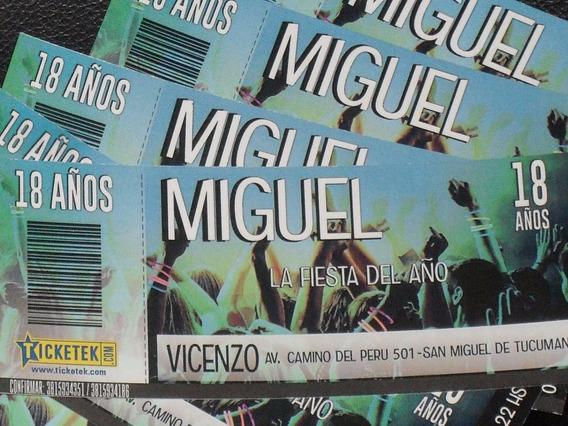 Invitación Tarjetas 15 Años Ticketek X 100 Unid