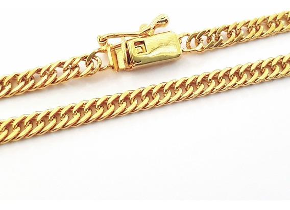 Corrente Cordão 3mm 70cm Banhado A Ouro 18k Igual A Ouro