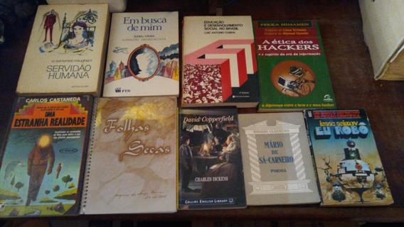 S1 - 9 Livros Litetura Leitura Biblioteca Lote Com 9 Livros