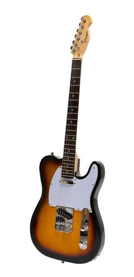 Guitarra Electrica Parquer Telecaster Sunburst Con Funda