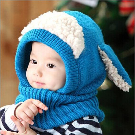 Touca Cachecol Ovelhinha Bebê E Infantil Cores Lindas