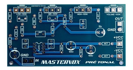 2 Placas Para Montar Pré Amplificador Com Controle De Tom