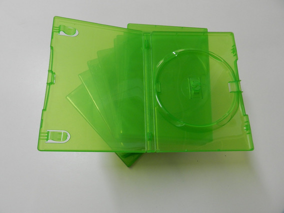 10 Box Dvd Verde Para Xbox Grosso