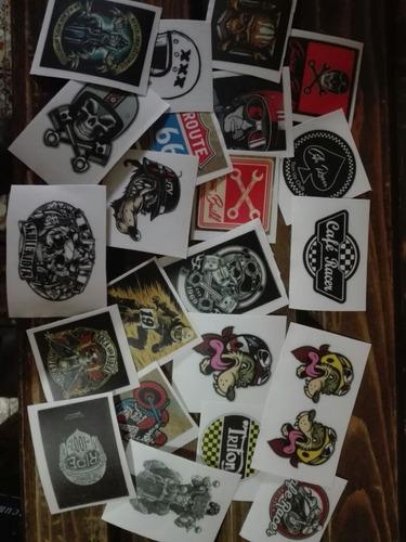 Café Racer Stikers En Vinilo X 3