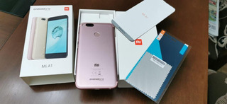 Impecável Celular Xiaomi Mi A1 Rose Gold 64gb 6 Capas - Rosa