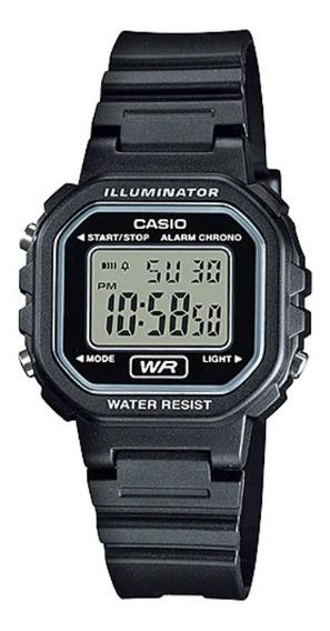 Relógio Feminino Casio Preto Quadrado Pequeno Digital + Nf