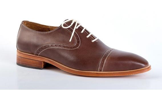 Zapatos De Cuero Marrón - Giardini