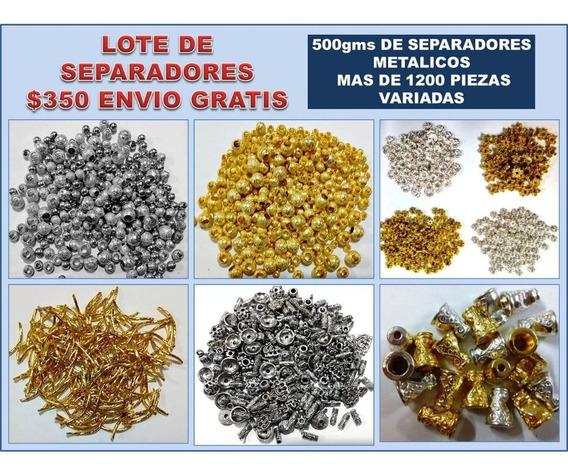 Lote 500gr De Componentes Metálicos Para Joyería Y Bisutería