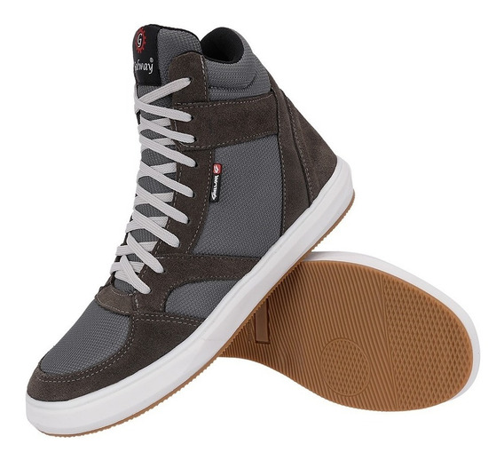 Tênis Sapatênis Sneakers Couro Skate Galway Cores Ref.515