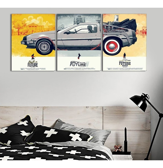 Quadro Delorean Dmc12 De Volta Para O Futuro Decorativo