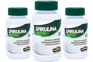 Spirulina Vitamina B12 520mg 3 X 60 Cápsulas - Sunflower
