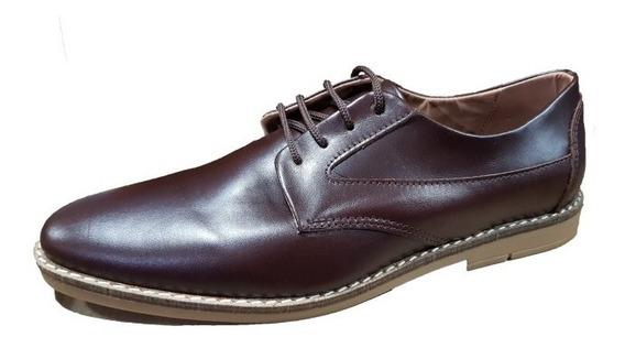 Zapato Punta Fina Acordonado Cuero | Morris (100)
