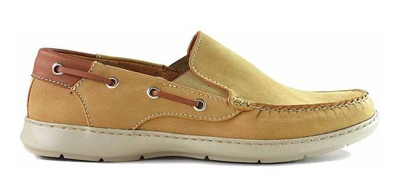 Mocasin Zapato Cuero Briganti Hombre Náuticos - Hcmo01271