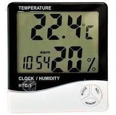 Higrometro Termometro Reloj Alarma Con Registro Htc-1