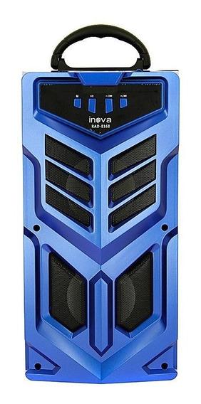 Caixa De Som Portátil Sem Fio Com Microfone - Rad-8168