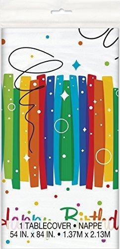 Imagen 1 de 2 de Pinata De Cumpleaños Arco Iris Cuerda De Tirar Cubierta De M