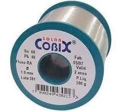 Kit-2pc Solda Em Fio 60 X 40 1.0mm 500gramas Azul Cobix
