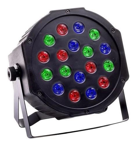 Imagen 1 de 4 de Luz Proton 18 Led Luminosidad Rgb Audioritmico Dmx Fiestas