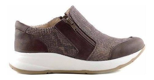 Zapatilla Zapato Cuero Mujer Briganti Confort - Mczp05213