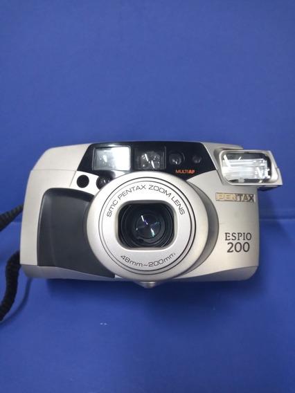 Camera Fotográfica Analógica Pentax Espio 200 Funcionando