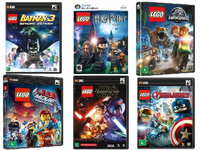 6 Jogos P/ Pc Computador Lego Batman Marvel Star Wars Harry