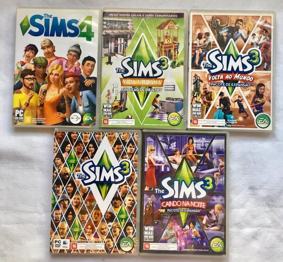 The Sims Jogo Game Lote Com 6 Dvd Sendo Um Disco Duplo