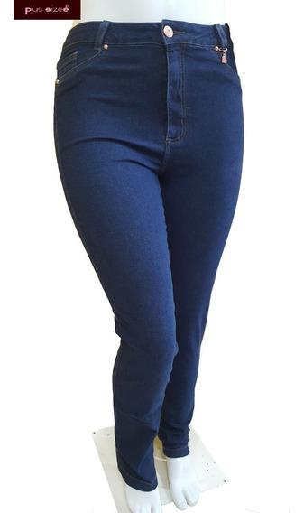 Calça Jeans Feminina Plus Size Cintura Alta Do 54 Ao 66