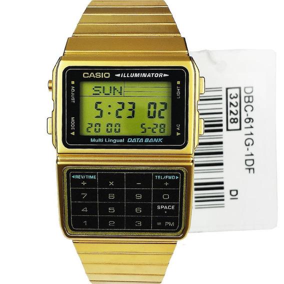 Relogio Casio Calculadora Vintage Dbc-611 Databank Original!