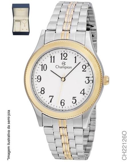 Relógio Champion Analógico Ch22126o Feminino + Semijoia