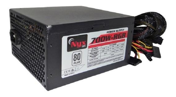 Fonte Nyx Tec Atx-700-rgb V.2019 Power Supply 700w 80 Plus