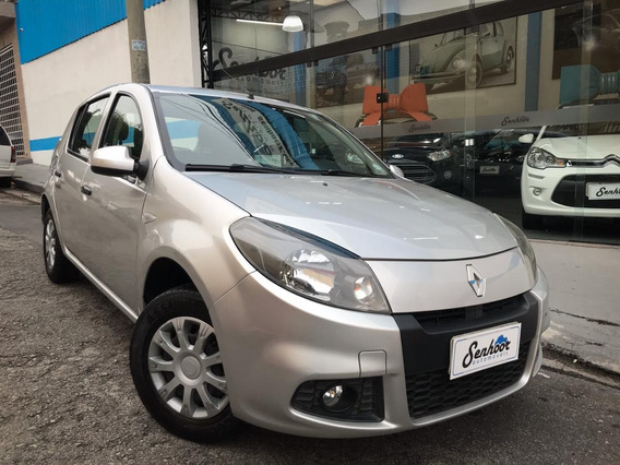 Renault Sandero Exp 1.0 16v Completo Prata - 2014