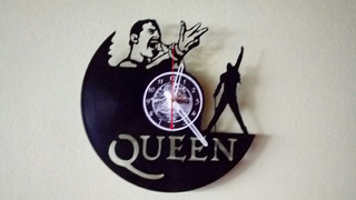 Fredy Mercury Queen Disco De Vinilo Reloj Arte Decoracion