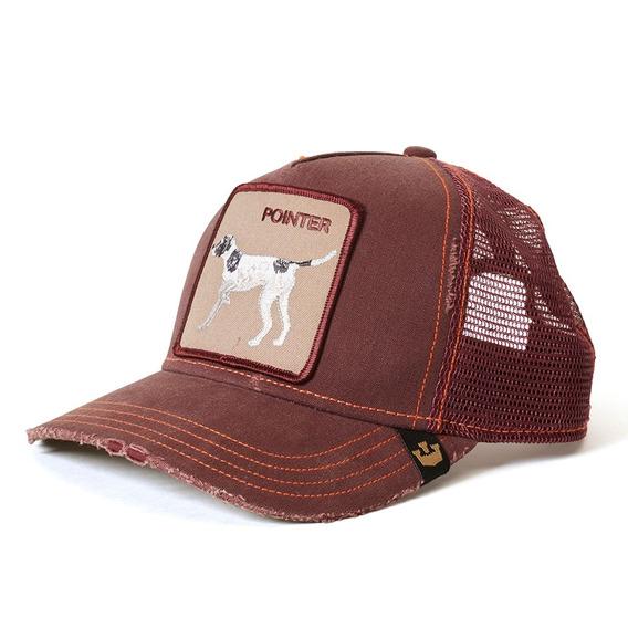 Gorras Goorin Baseball The Pointer Animal Farm Trucker Bordo