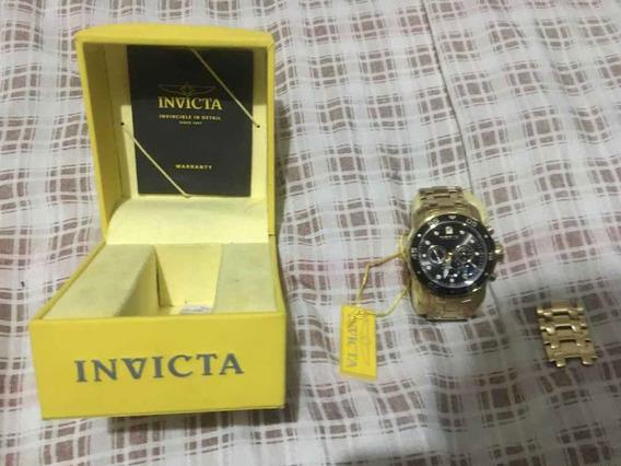Relógio Invicta Pro Driver Original Ouro Na Caixa