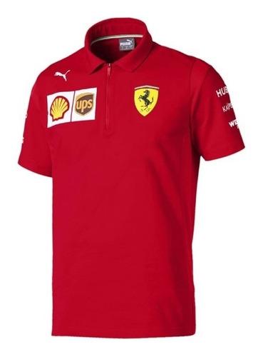 Nova Camisa Polo Scuderia Ferrari F1 Team 2019 Vettel Leclerc Frete Grátis