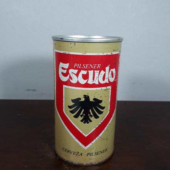 Lata Latinha Antiga Cerveja Escudo Ferro Importada Chile