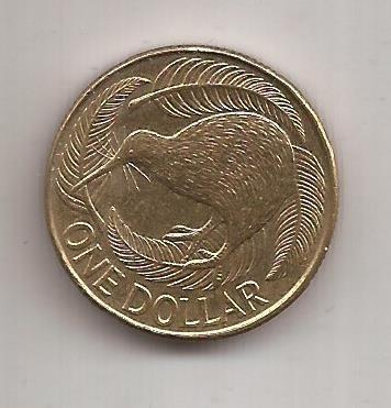 Nueva Zelanda Moneda De 1 Dolar Año 1991