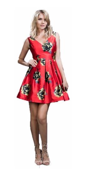 Vestido Ark & Co. Rojo Con Estampado Floral