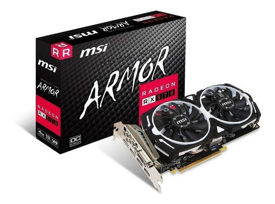 Placa de video MSI Radeon RX 500 Series RADEON RX 570 ARMOR 4G OC 4GB