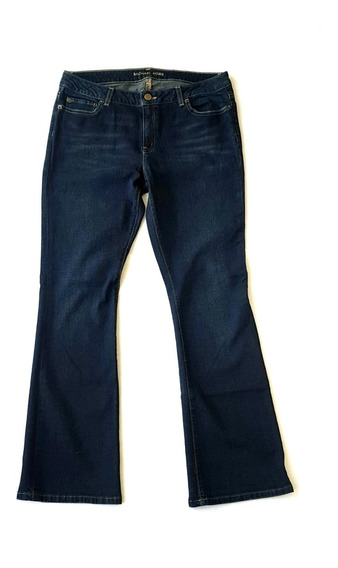 Michael Kors Jeans Flare Leg Dark Wash Azul Obscuro
