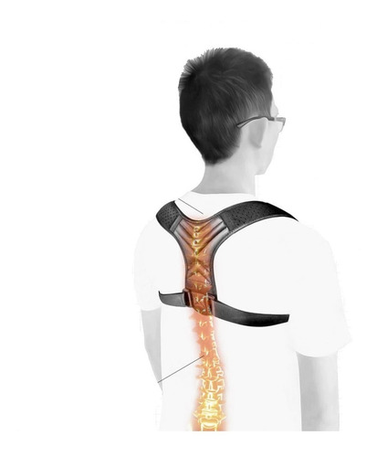 Corrector Postura Negro Alivio Dolor Espalda Columna