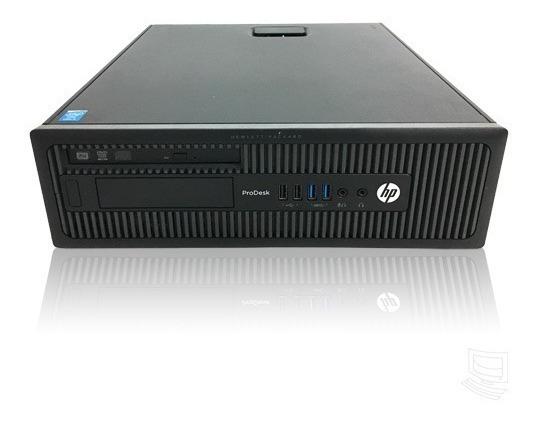 Cpu Hp Prodesk 600 G1 I5 4gb 500gb Windows 7 Garantia 1 Ano