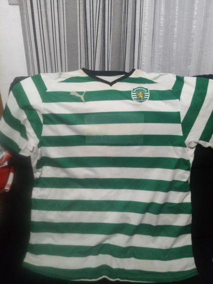 Camisa Sporting De Lisboa De Jogo Usada Por Fabio Rochemback