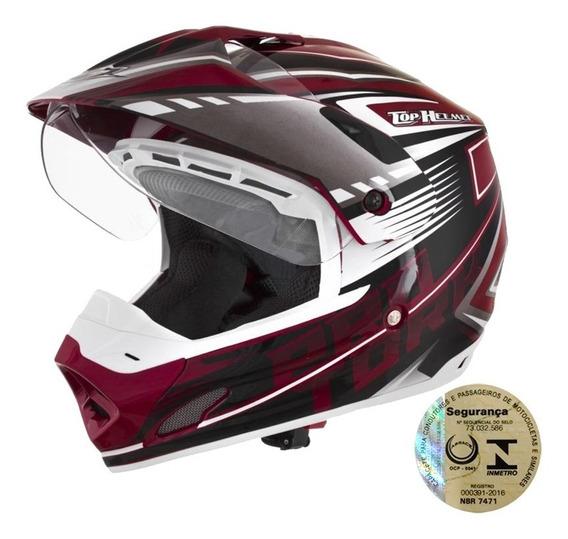 Capacete Masculino Fechado Pro Tork Top Helmet Vision Th1