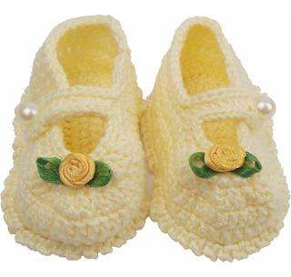Sapatinho De Crochê Para Recém-nascido Modelo Lili