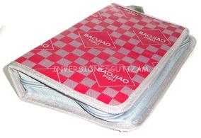 Porta Cd-80 Semicuero Cuadros Resistente Dvd Blu-ray